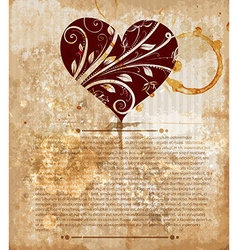 Rustic Valentines Card vector