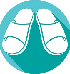 Sandals Icon vector image