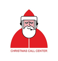Santa Claus call Center Santa responds to phone vector