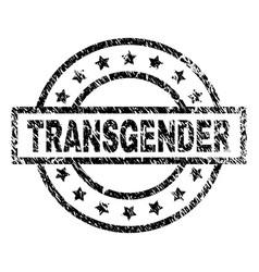 Scratched textured transgender stamp seal vector