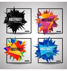 Set of colorful isolated template poster with vector image