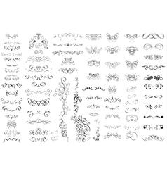 Set of vintage retro calligraphic elements vector image