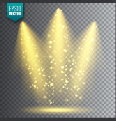 spotlight bright christmas glowing light vector image