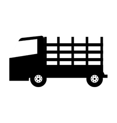 Stakes truck isolated icon vector
