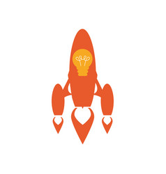 start up spaceship concept vector image