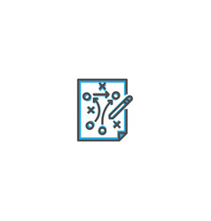 strategy icon design startup icon design vector image