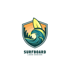 surfboard logo premium vector image