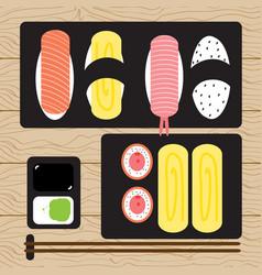 Sushi japanese food vector