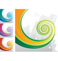 tail spiral vector image