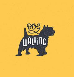 terrier logo vector image