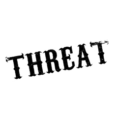 Threat rubber stamp vector image