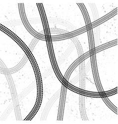 Tire track grunge wallpaper vector