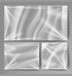transparent polyethylene stretched glossy vector image