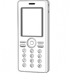 vector mobile phone vector image