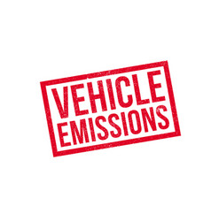 Vehicle emissions rubber stamp vector