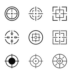 Vision icons set simple style vector