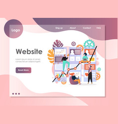 Web services website landing page design vector