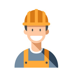 Worker man flat vector