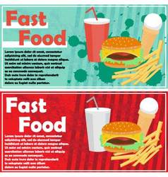 fast food flyer vector image