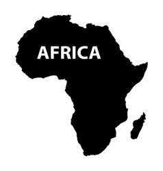 map of Africa on white background vector image vector image