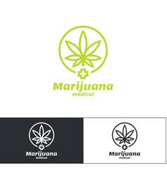 Marijuana medical logo vector