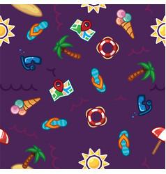 pattern beach summer theme palm trees vector image
