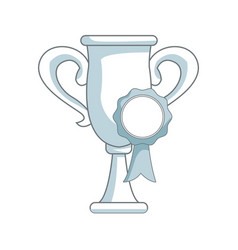 trophy rosette award success honor icon vector image