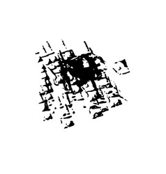 Worn grunge surface ink background vector image