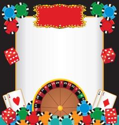 casino night party vector image