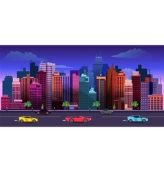 city game background 2d application design vector image vector image