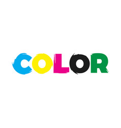 color paint logo vector image