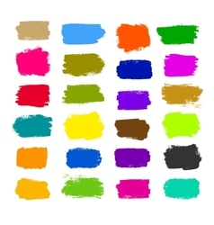 Colorful brush strokes vector image