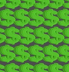 Dollar seamless pattern Green Dollar background vector image vector image