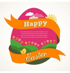 Easter vintage style greeting card vector image vector image