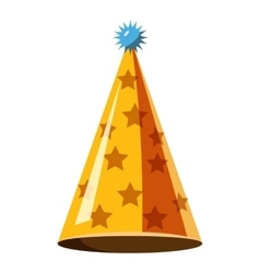 Gold party hat icon isometric 3d style vector image