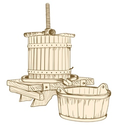 old wine press vector image vector image