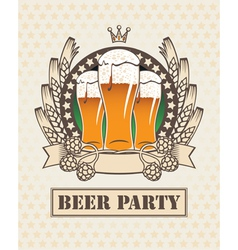 three beers vector image vector image