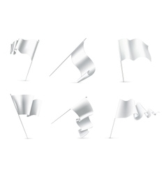 White Flags set vector image