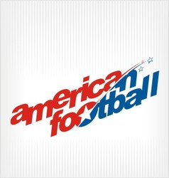 american football logo image symbol vector image vector image
