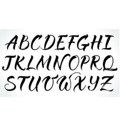 brushpen lettering alphabet vector image vector image