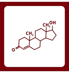 Chemical formula of testosterone vector image