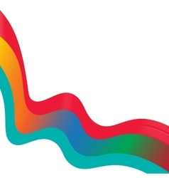 Colored ribbon or tape isolated vector image