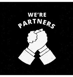 Two business partners handshake vector image vector image