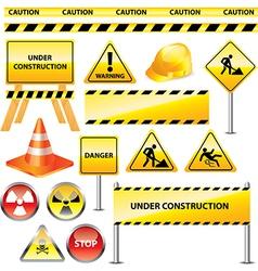 icons warning vector image