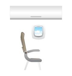 Plane - jet interior with seats vector