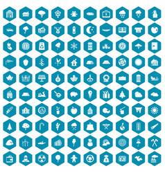 100 lumberjack icons sapphirine violet vector image