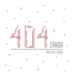 404 error connection vector image