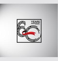 60 years anniversary logotype flat style vector