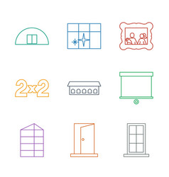 9 frame icons vector