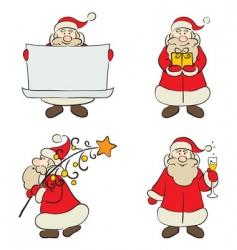 a set of santa claus vector image